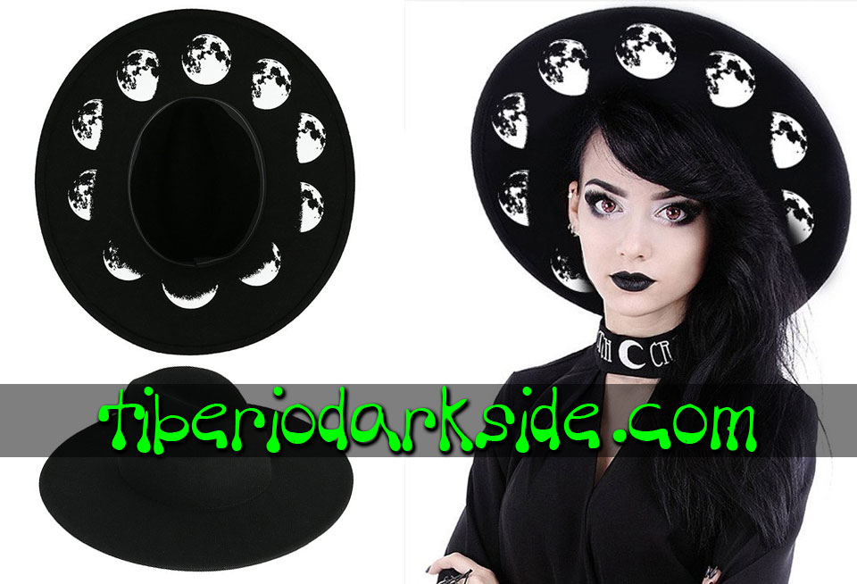 WITCHY & NU GOTH - Accessories RESTYLE Moon Phases Nu Goth Hat