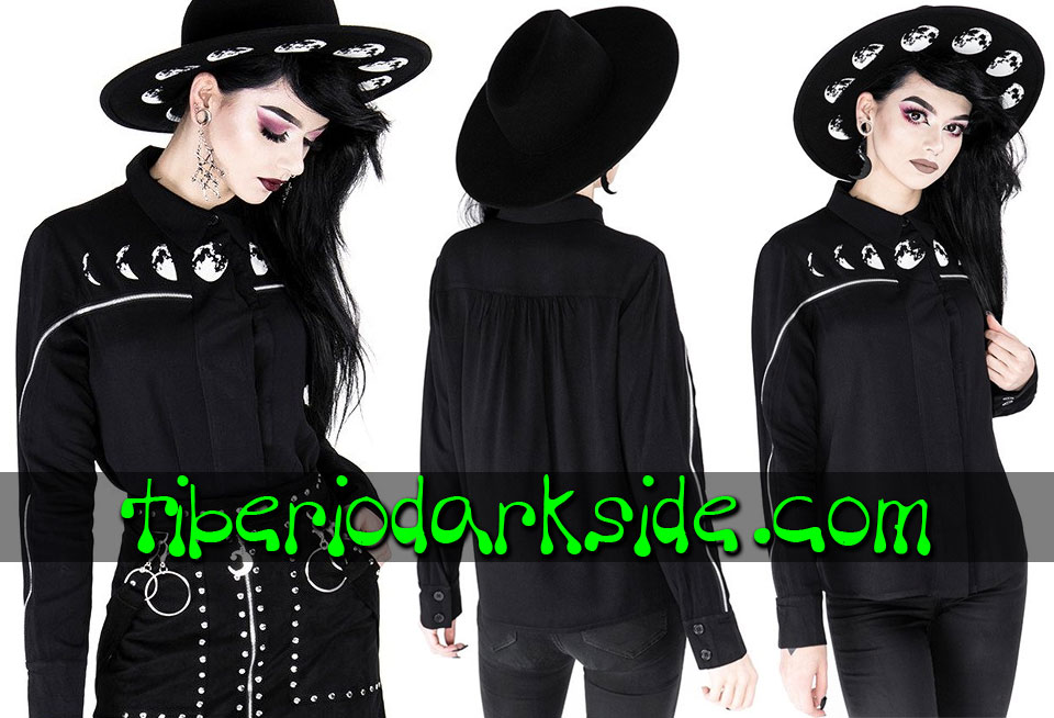 RESTYLE - Shirts & Tops RESTYLE Moon Phases Nu Goth Shirt