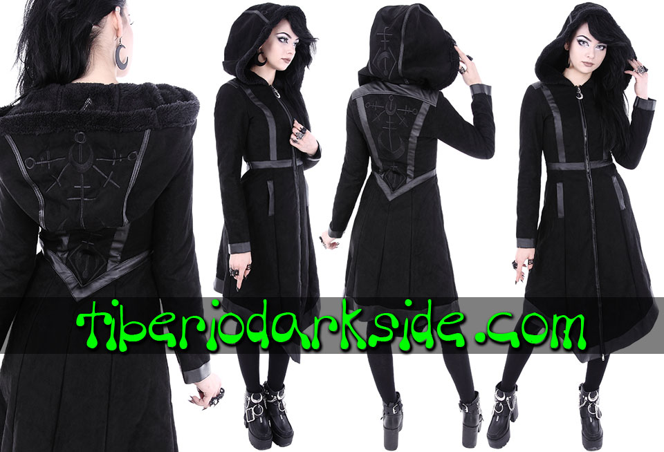 RESTYLE - Outwear RESTYLE Moon Witch Nu Goth Hooded Coat