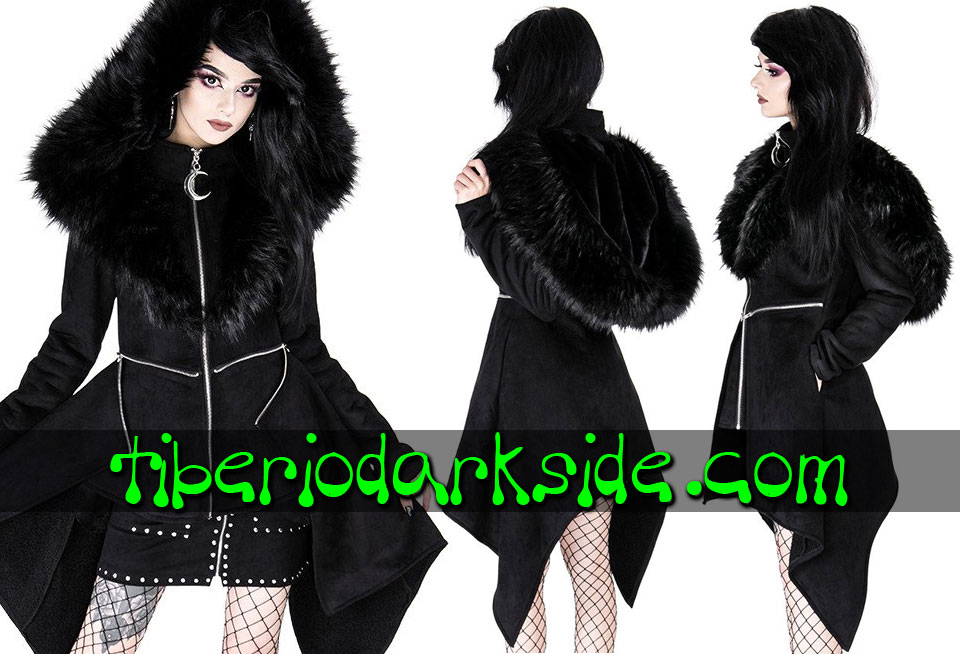 RESTYLE - Outwear RESTYLE Mysterium Moon Nu Goth Hooded Coat