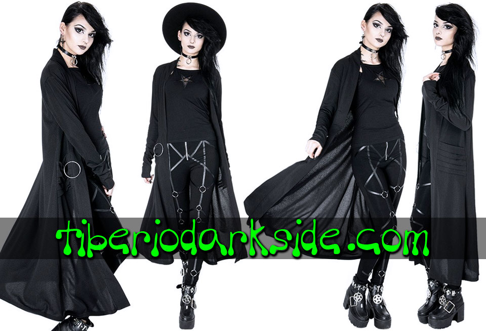 WITCHY & NU GOTH - Outwear RESTYLE Nightwalker Nu Goth Long Cardigan