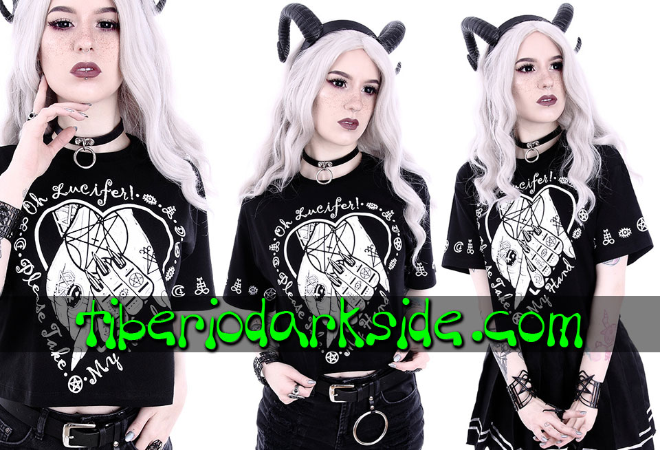 WITCHY & NU GOTH - Camisetas RESTYLE Camiseta Corta Oh Lucifer