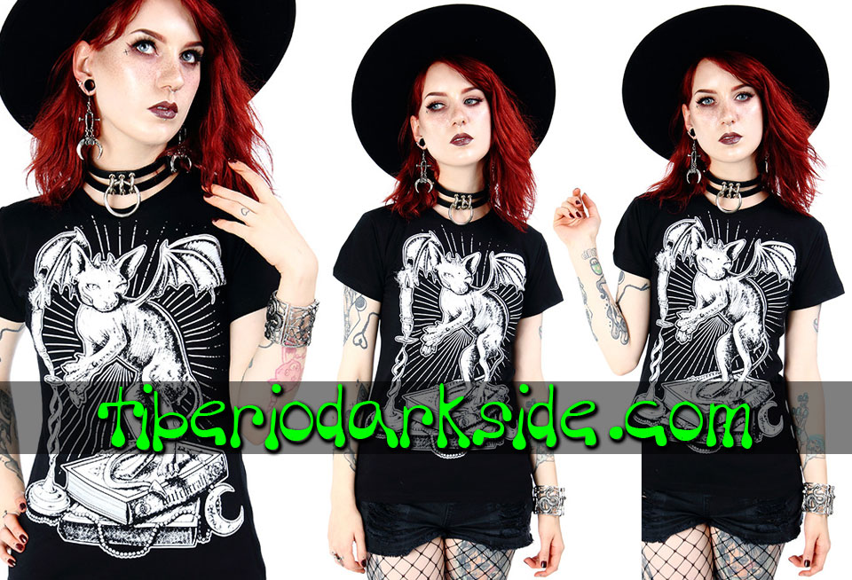 RESTYLE - T-Shirts RESTYLE Ominous Cat Fitted T-Shirt
