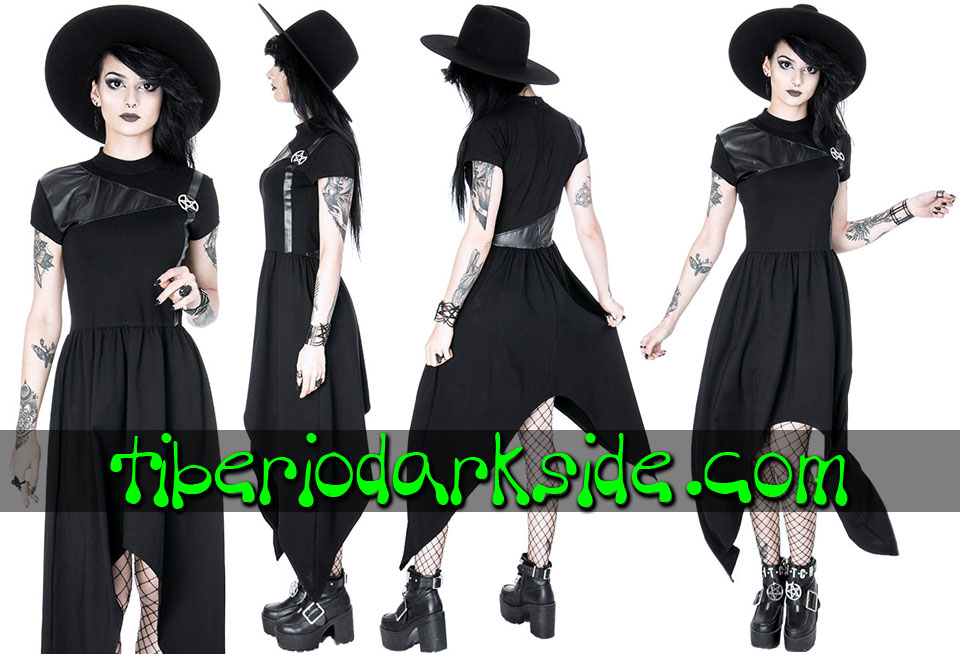 RESTYLE - Dresses RESTYLE Pentagram Tunic Nu Goth Dress