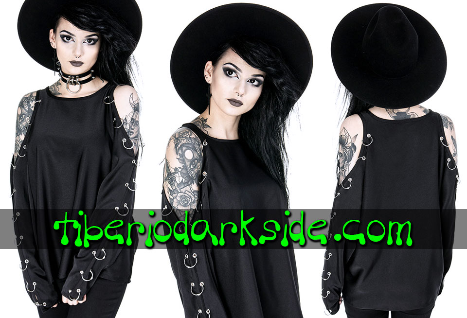 WITCHY & NU GOTH - Camisas y Tops RESTYLE Top Nu Goth Hombros Piercings
