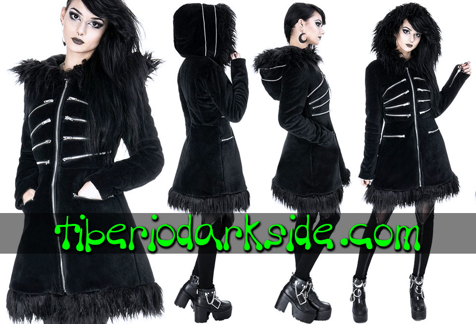 WITCHY & NU GOTH - Outwear RESTYLE Pixie Zippers Witchy Goth Hooded Coat