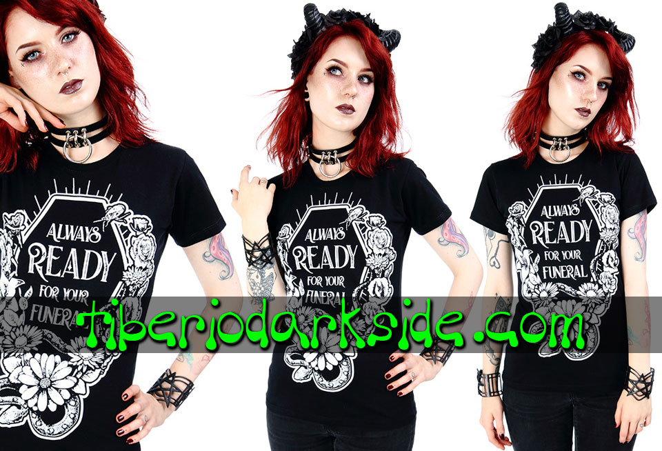 RESTYLE - Camisetas RESTYLE Camiseta Entallada Always Ready For Your Funeral