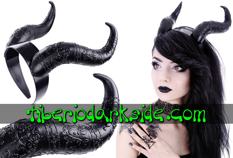 WITCHY & NU GOTH - Accessories RESTYLE Satan Horns Nu Goth Hairband