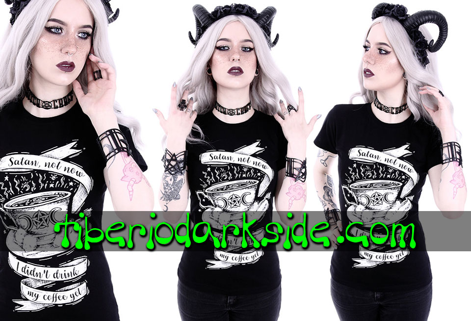 RESTYLE - T-Shirts RESTYLE Satan Not Now Fitted T-Shirt