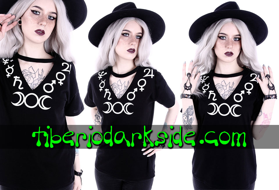 WITCHY & NU GOTH - T-Shirts RESTYLE Symbols V Neck T-Shirt