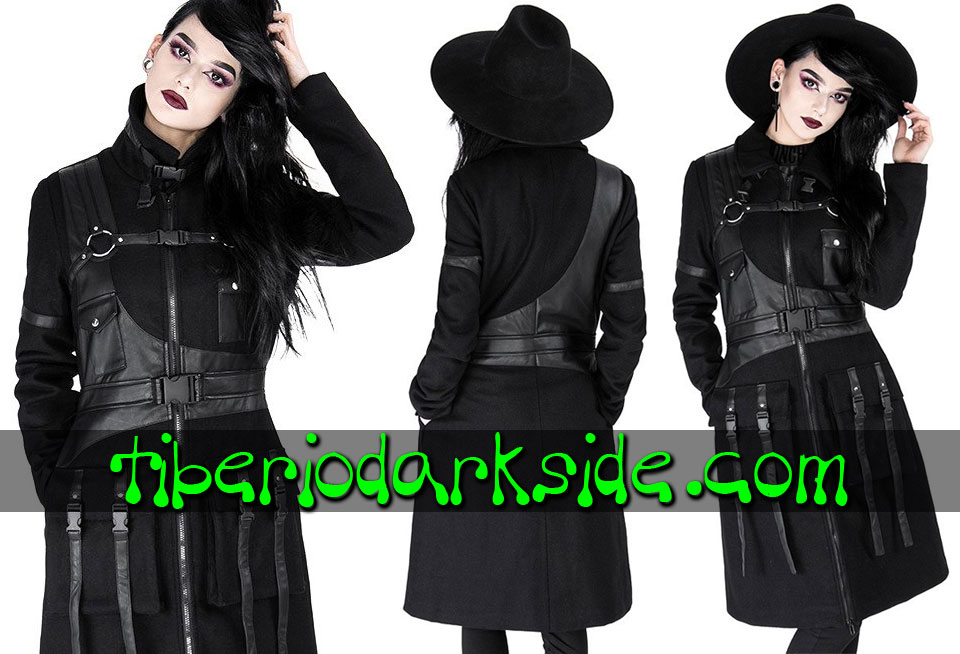 RESTYLE - Outwear RESTYLE Utility Harness Military Goth Coat