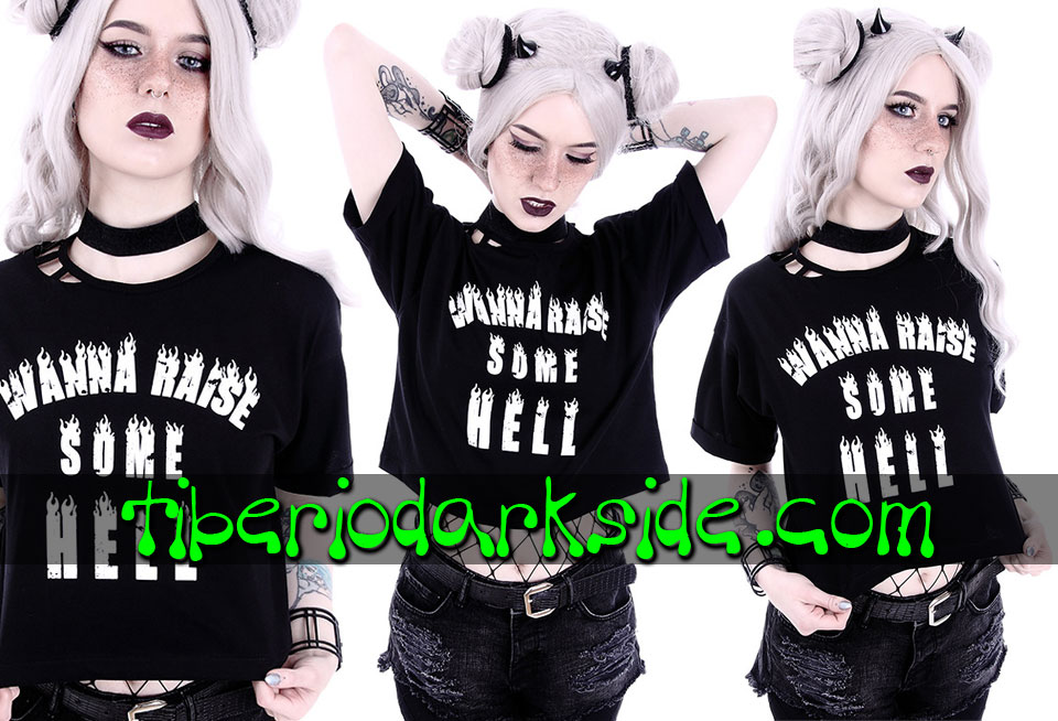 Camisetas - Manga Corta RESTYLE Camiseta Corta Wanna Raise Some Hell