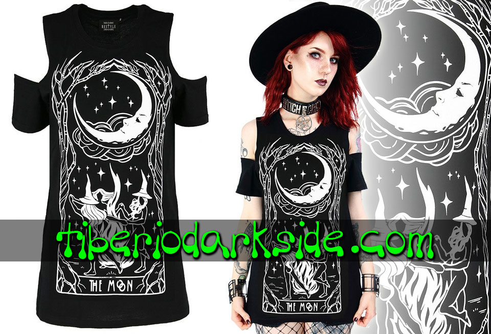 Camisetas - Manga Corta RESTYLE Camiseta Hombros The Moon Witches Chant