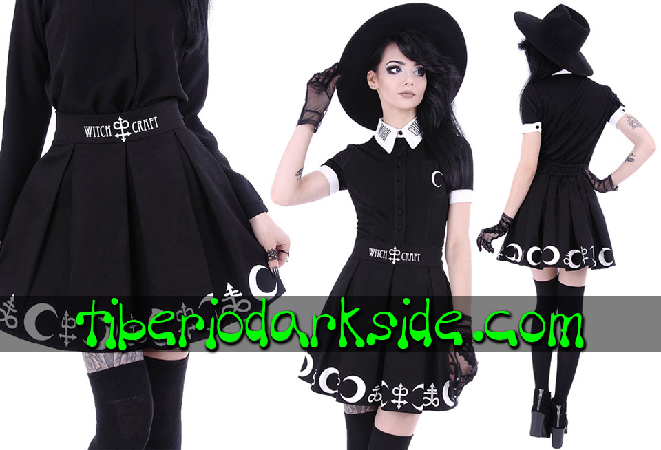 RESTYLE - Skirts RESTYLE Witchcraft Symbols Nu Goth Skirt
