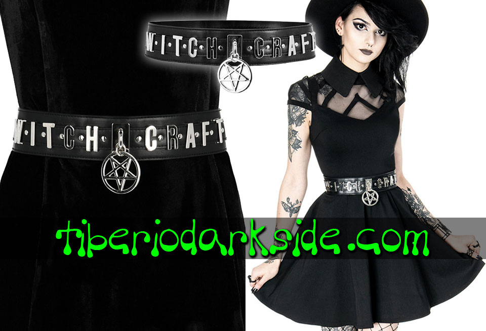 WITCHY & NU GOTH - Accesorios RESTYLE Cinturon Nu Goth Witchcraft Pentagrama