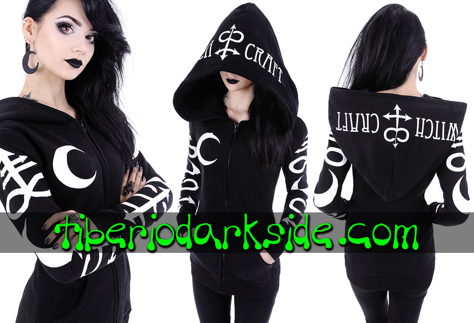 RESTYLE - Outwear RESTYLE Witchcraft Symbols Nu Goth Hoodie