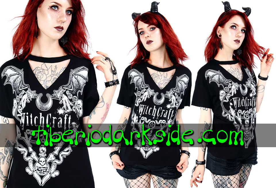 WITCHY & NU GOTH - T-Shirts RESTYLE Witchcraft V Neck T-Shirt