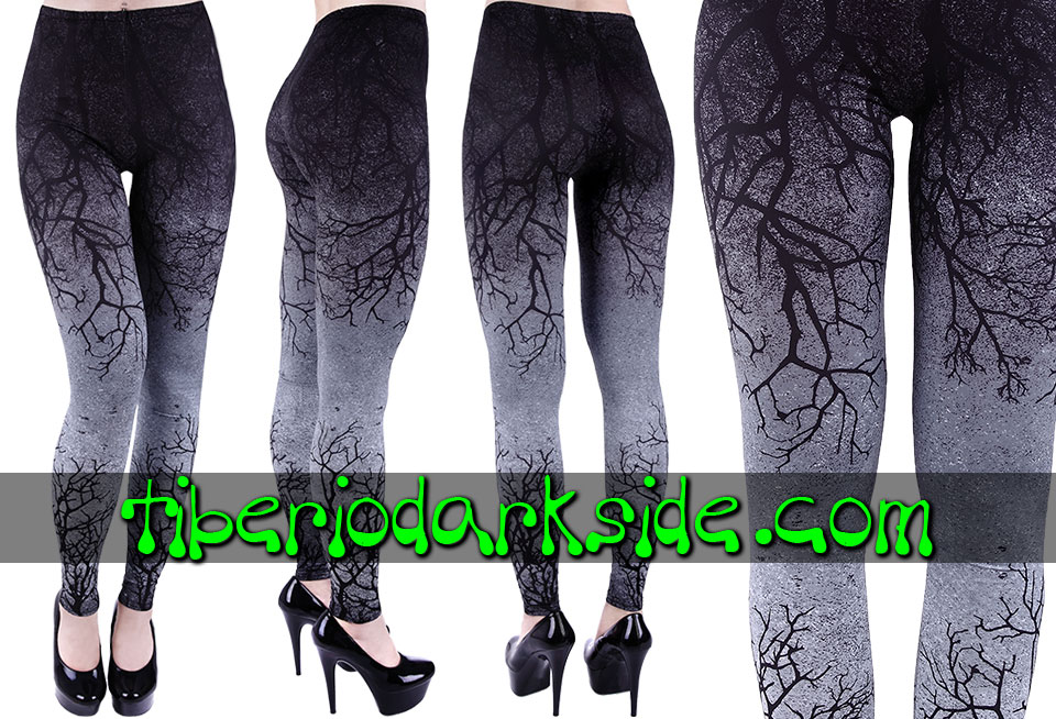 WITCHY & NU GOTH - Leggings RESTYLE Leggings Nu Goth Ramas Gradiente Gris