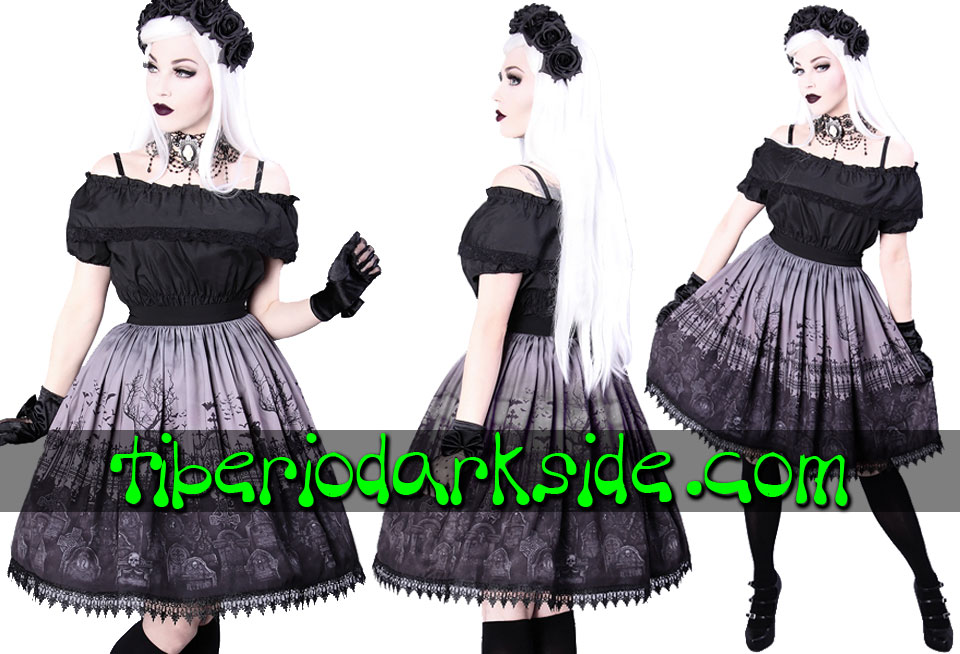 RESTYLE - Skirts RESTYLE Gray Cemetary Gothic Lolita Skirt