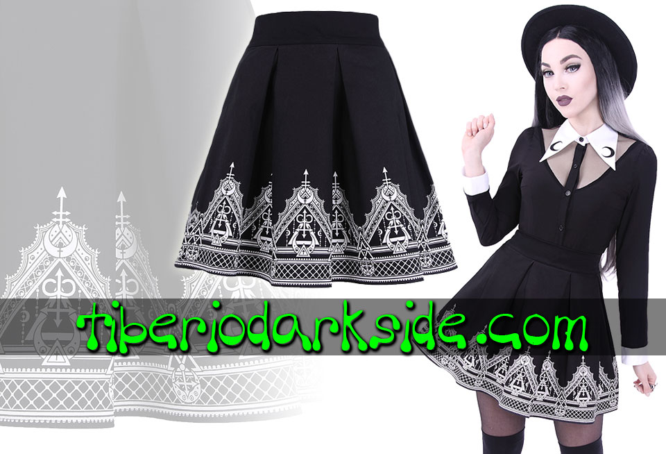 RESTYLE - Skirts RESTYLE Henna Moon Nu Goth Skirt