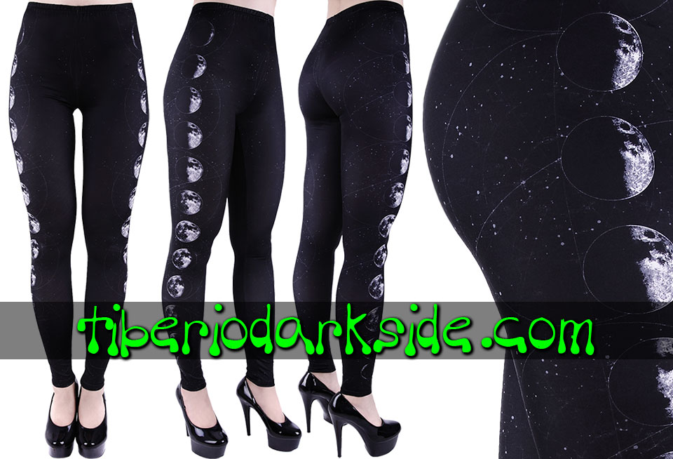 WITCHY & NU GOTH - Leggings RESTYLE Leggings Nu Goth Fases de la Luna