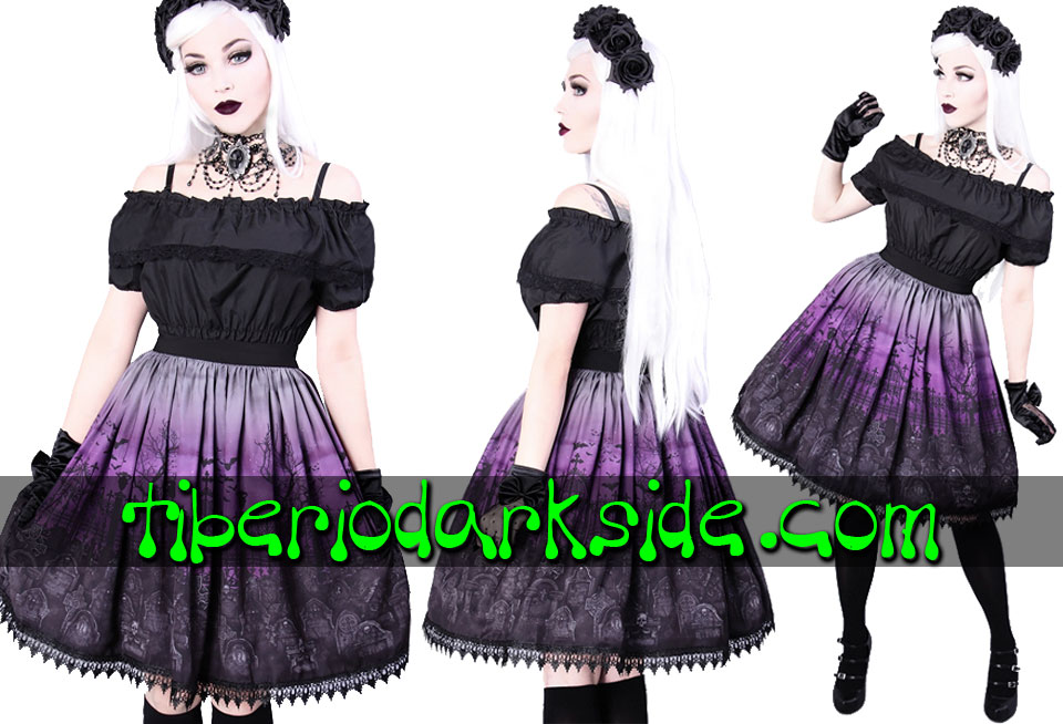 RESTYLE - Skirts RESTYLE Purple Cemetary Gothic Lolita Skirt