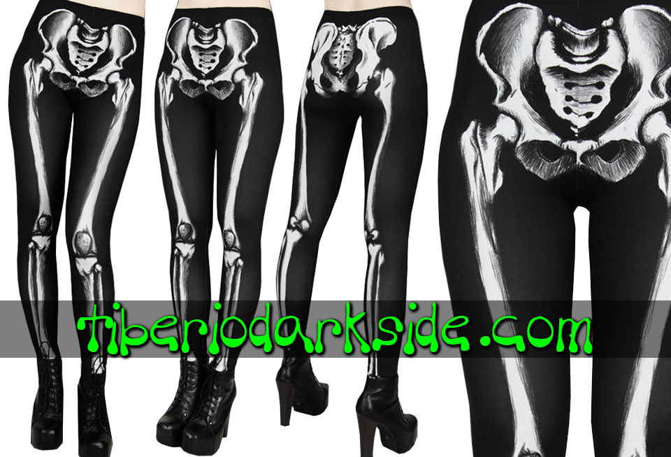 WITCHY & NU GOTH - Leggings RESTYLE Leggings Nu Goth Huesos Esqueleto
