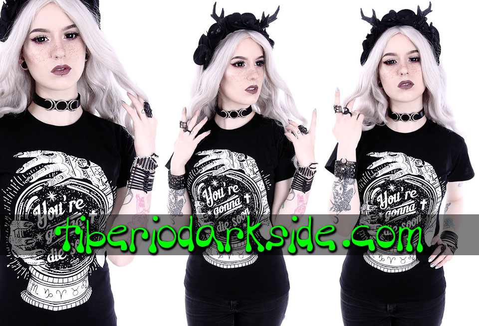 NU GOTH - Camisetas RESTYLE Camiseta Entallada You're Gonna Die Soon
