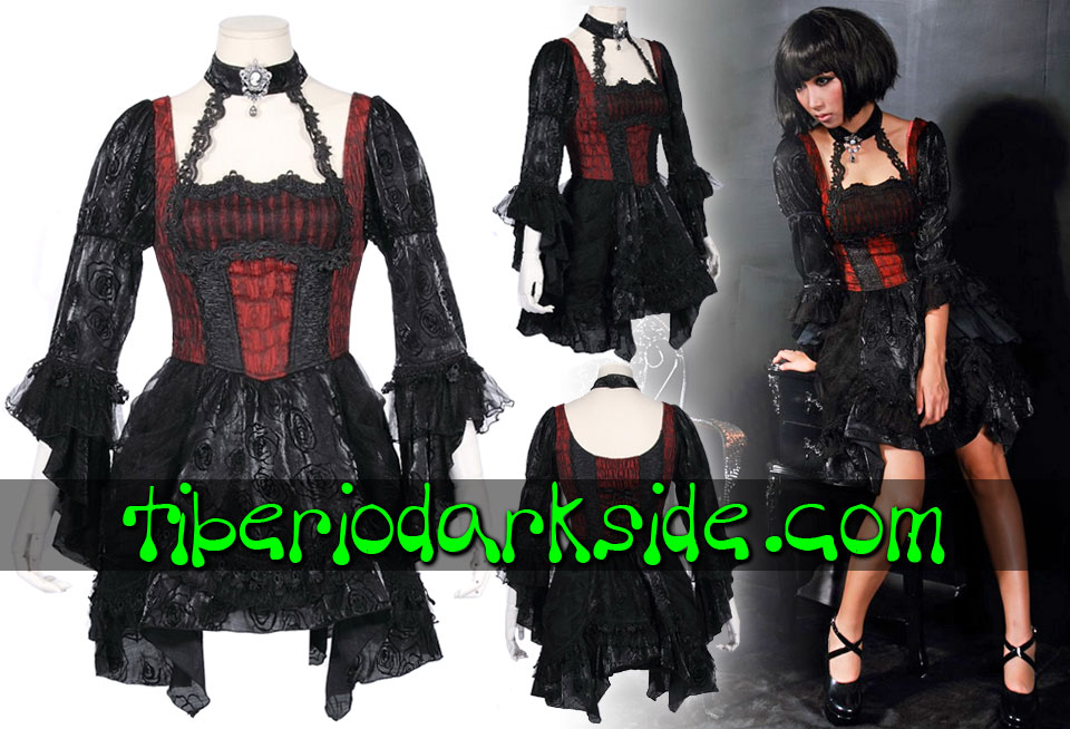 - GOTHIC LOLITA RQ-BL Dark Lolita Dress