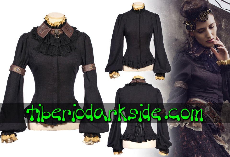 STEAMPUNK - Camisas RQ-BL Camisa Steampunk Guardian Negro