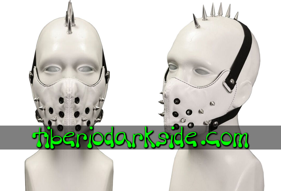POST APOCALYPTIC - Accesorios TIBERIO DARK SIDE Mascara Post Apocaliptica Blanco