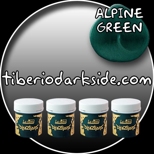 HAIR DYES - Hair Dye Box DIRECTIONS Alpine Green Hair Dye x 4 tubs