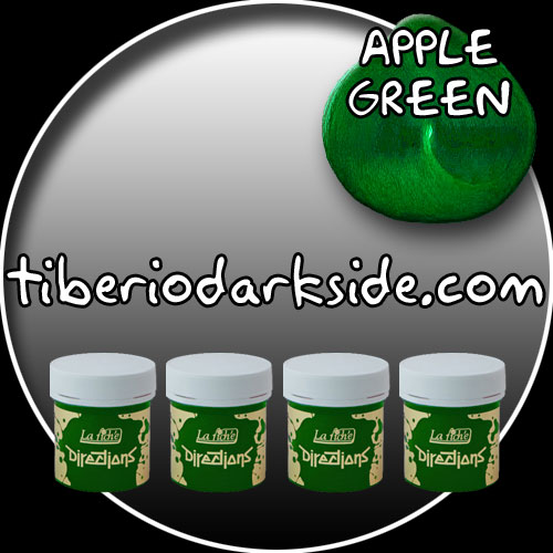 HAIR DYES - Hair Dye Box DIRECTIONS Apple Green Hair Dye x 4 tubs