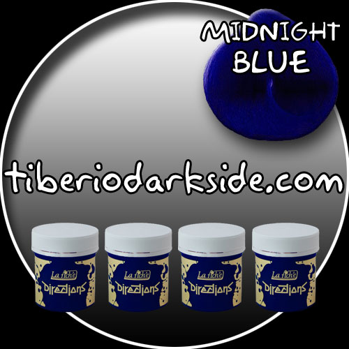 HAIR DYES - Hair Dye Box DIRECTIONS Midnight Blue Hair Dye x 4 tubs