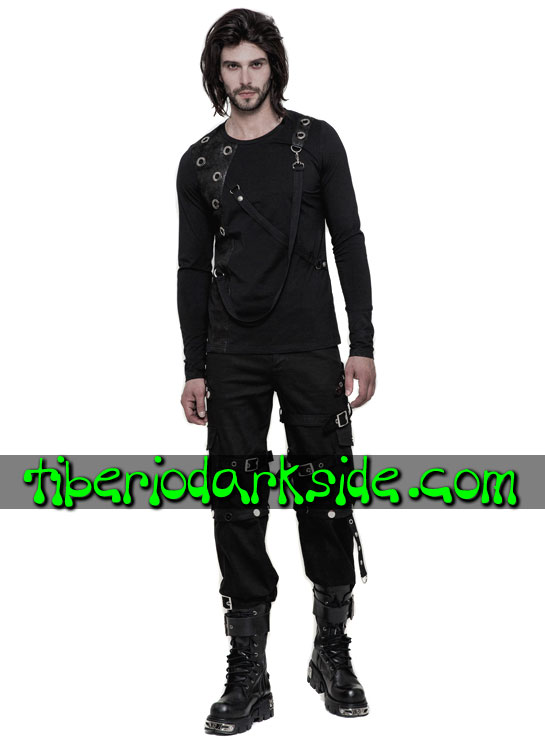 Tiberio Dark Side. Trousers - PUNK RAVE Convertible Cargo Industrial Goth Trousers