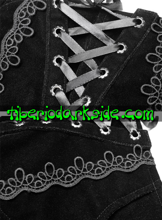 Tiberio Dark Side. FOLK GOTH - PUNK RAVE Shorts Folk Goth Cola Encaje