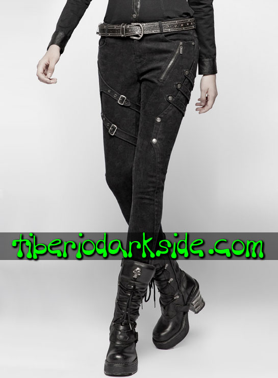 Tiberio Dark Side. Largos - PUNK RAVE Pantalones Military Goth Estampado Calaveras