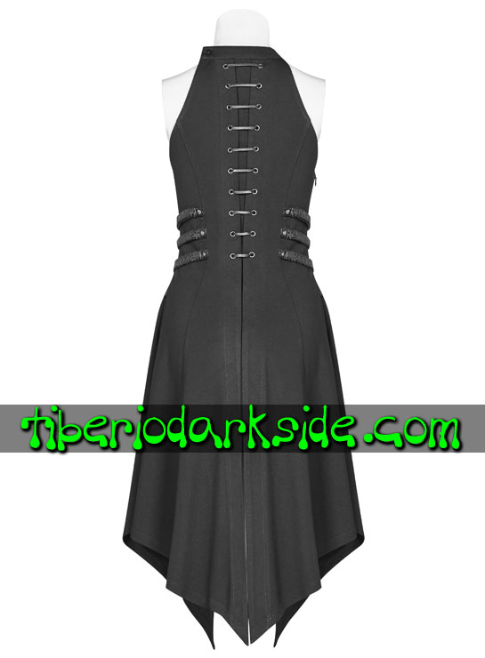 Tiberio Dark Side. CYBER GOTH - PUNK RAVE Cordal Spine Cyber Goth Dress