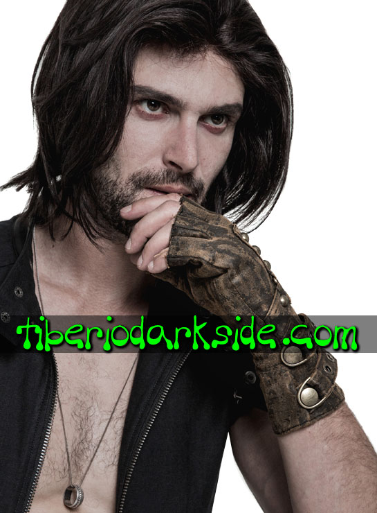 Tiberio Dark Side. Accesorios - PUNK RAVE Guantes Post Apocalipticos Marron