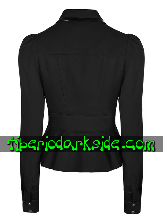 Tiberio Dark Side. Chaquetas - PUNK RAVE Chaqueta Corporate Goth Negro