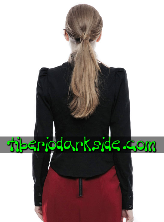 Tiberio Dark Side. Tops - PUNK RAVE Camisa Corporate Goth