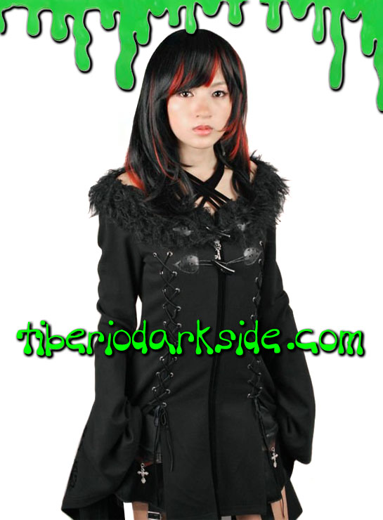 Tiberio Dark Side. Chaquetas - PUNK RAVE Chaqueta Visual Kei Yukata