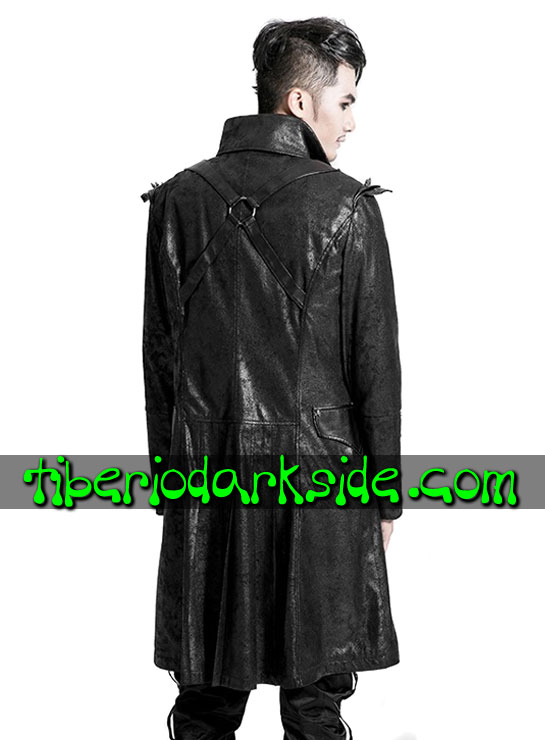 Tiberio Dark Side. CORPORATE & MILITARY GOTH - PUNK RAVE Abrigo Casaca Militar Pinchos
