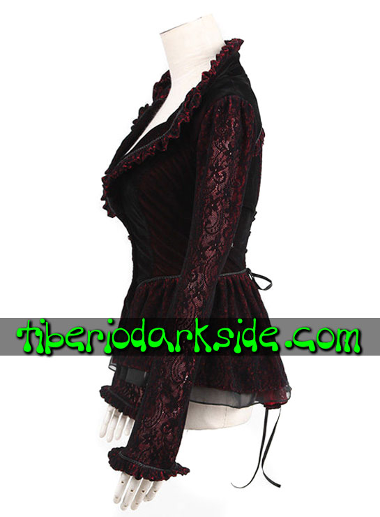 Tiberio Dark Side. VICTORIAN GOTH - PUNK RAVE Red Gothic Jacket