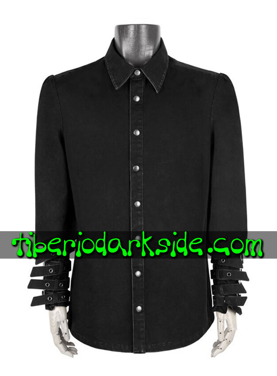 HOMBRE - Camisas PUNK RAVE Camisa Industrial Espina Dorsal