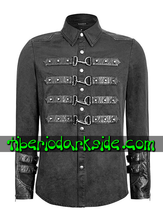 HOMBRE - Camisas PUNK RAVE Camisa Cyber Industrial