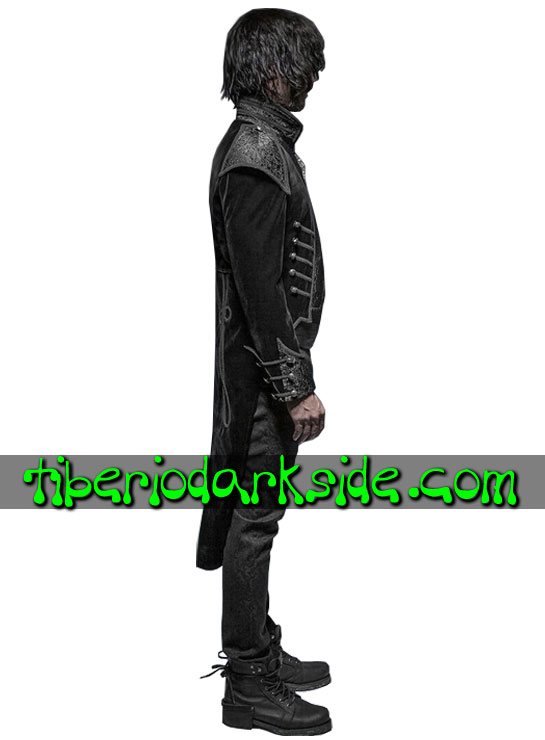 Tiberio Dark Side. CORPORATE & MILITARY GOTH - PUNK RAVE Chaqueta de Cola Gotica Almirante