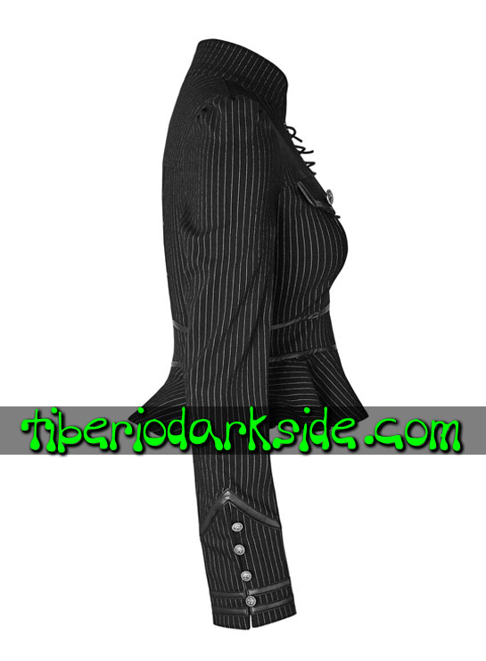 Tiberio Dark Side. MILITARY GOTH - PUNK RAVE Camisa Uniforme Raya Diplomatica Blanco