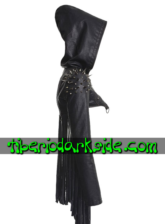 Tiberio Dark Side. Outwear - PUNK RAVE Tassels Post Apocalyptic Bolero