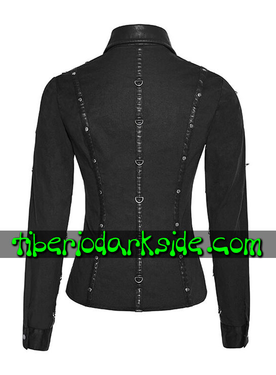 Tiberio Dark Side. CORPORATE & MILITARY GOTH - PUNK RAVE Camisa Uniforme Fetish